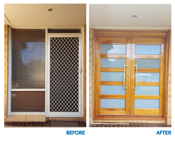 Double Timber Doors - Before and After - StarDoors