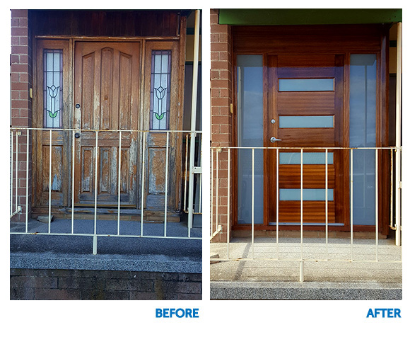 Timber Doors - Before and After - StarDoors - Beach House