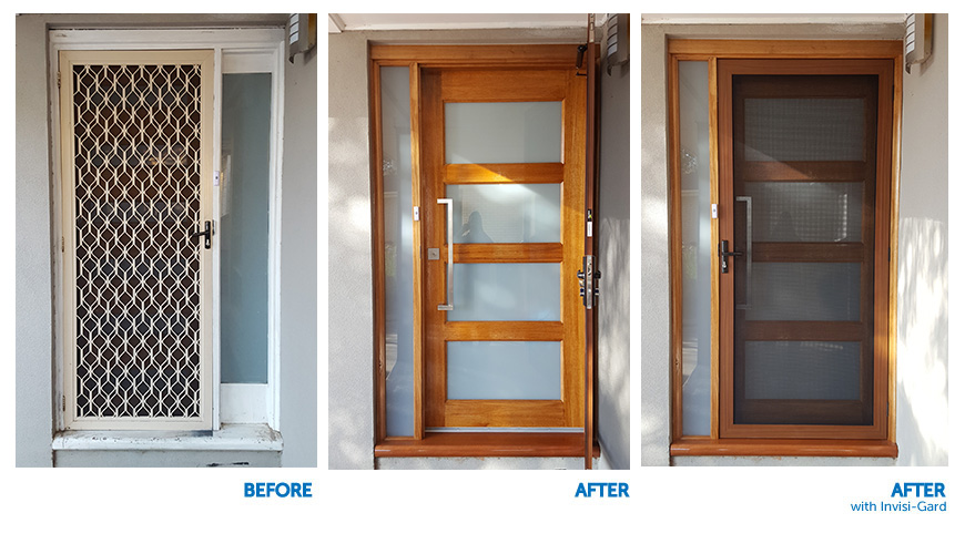 Timber Doors - Star Doors - Before and After with Invisi-Gard